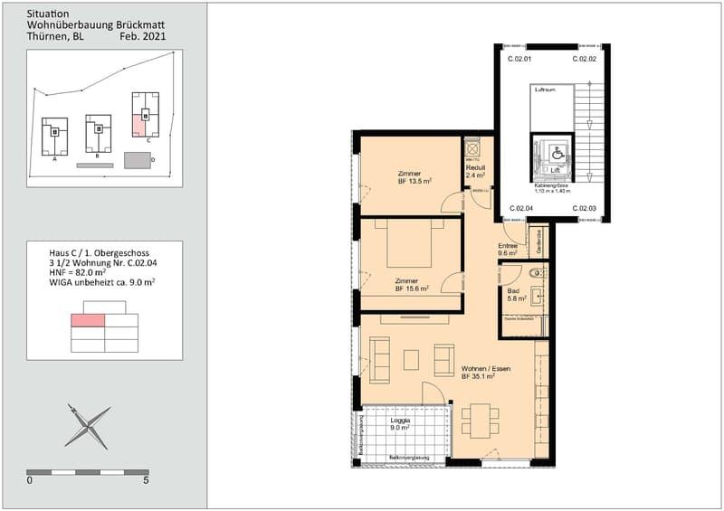 Erstvermietung 3 1/2 Zimmer-Wohnung in Thürnen BL (8)