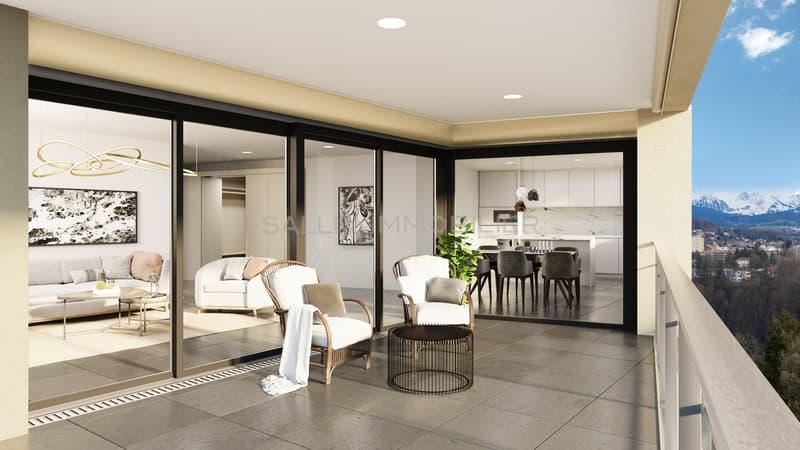 2 appartements de 4½ pièces de standing  + pl. de parc int. (3)