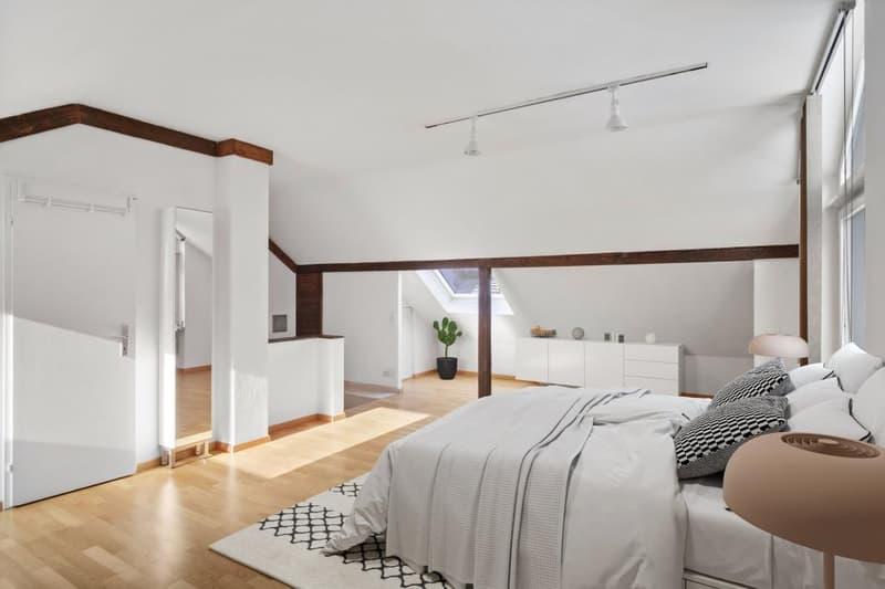 Studio/Schlafzimmer im DG (Möblierung vi