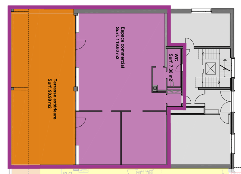 Surface commerciale / bureaux d'env. 125 m² (4)