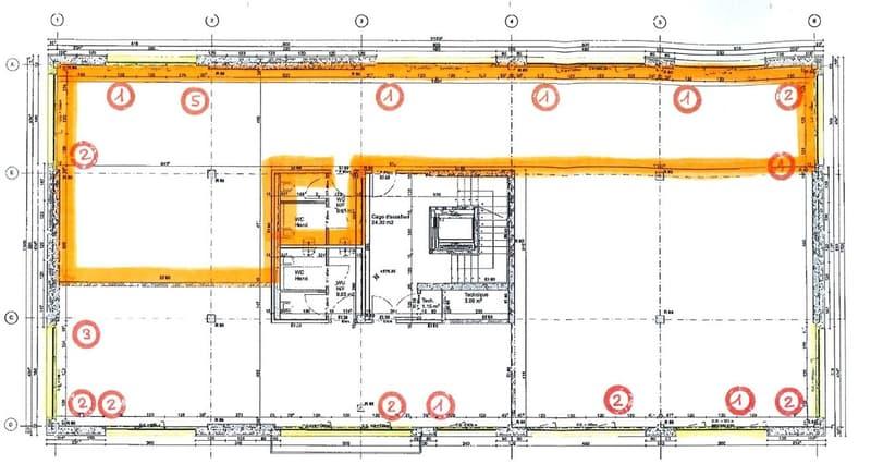 Surface commerciale/bureau/cabinet de 200m2 (11)