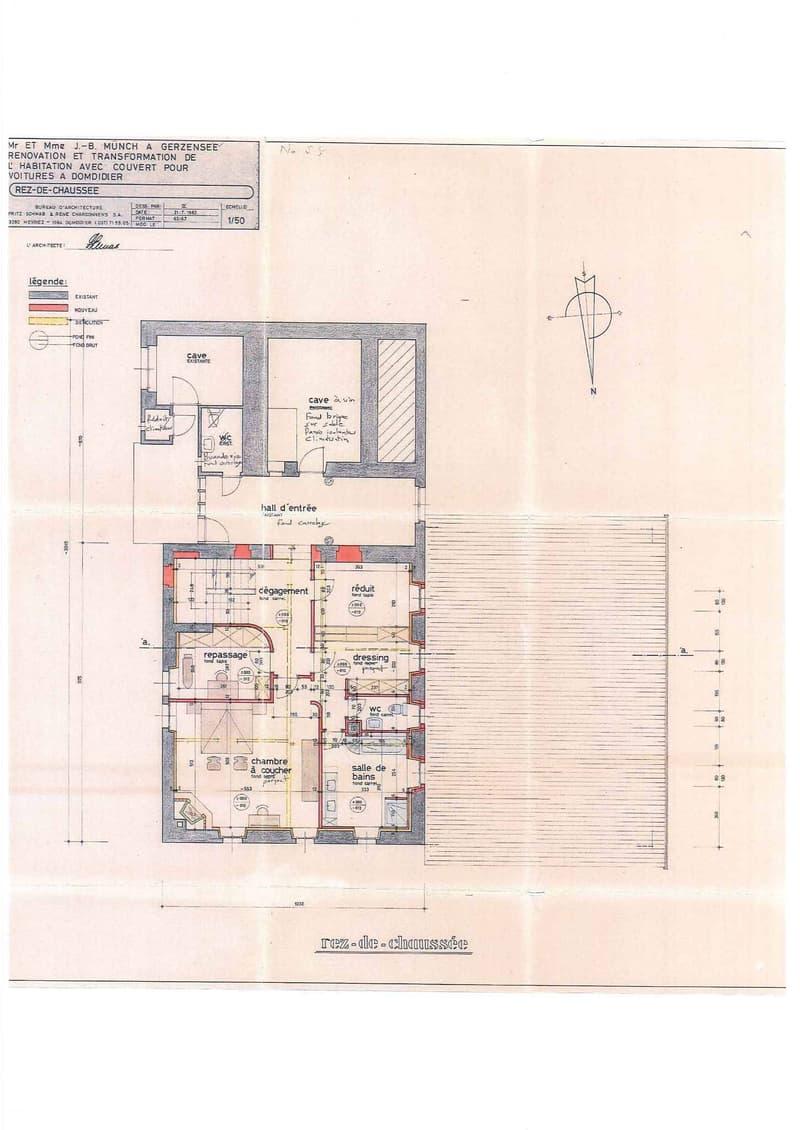 Habitation principale - Plan du rez supérieur