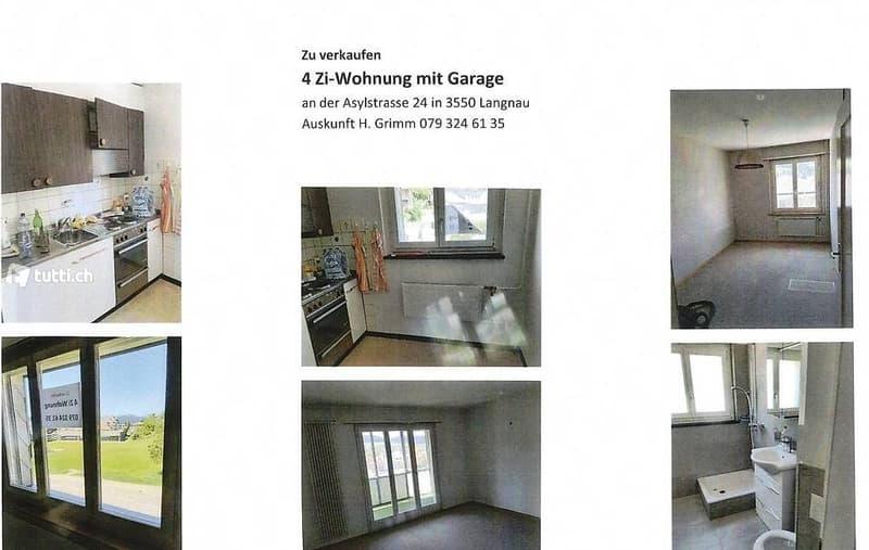 4 Zimmerwohnung im 2. Stock und Garage, Estrich und Keller (2)