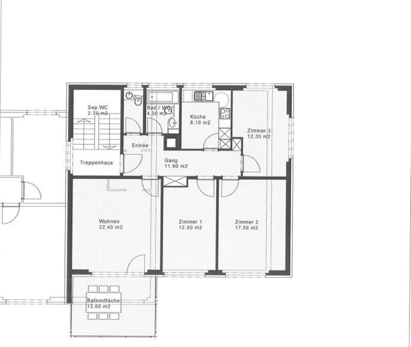 Grundriss Wohnung 8231