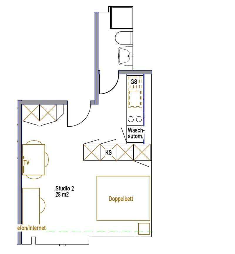 Studio Apartment - möbliert (6)