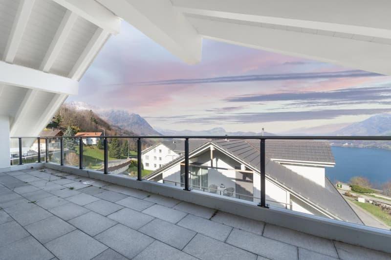 Gedeckte Terrasse 24 m2