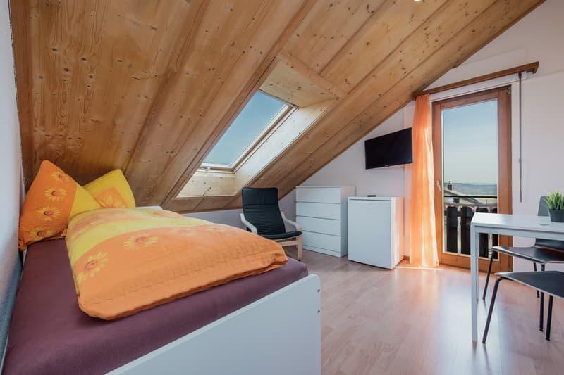 Vollausgerüstetes, möbliertes WG-Zimmer mit Balkon / TV / Internet (Zimmer 1) (1)
