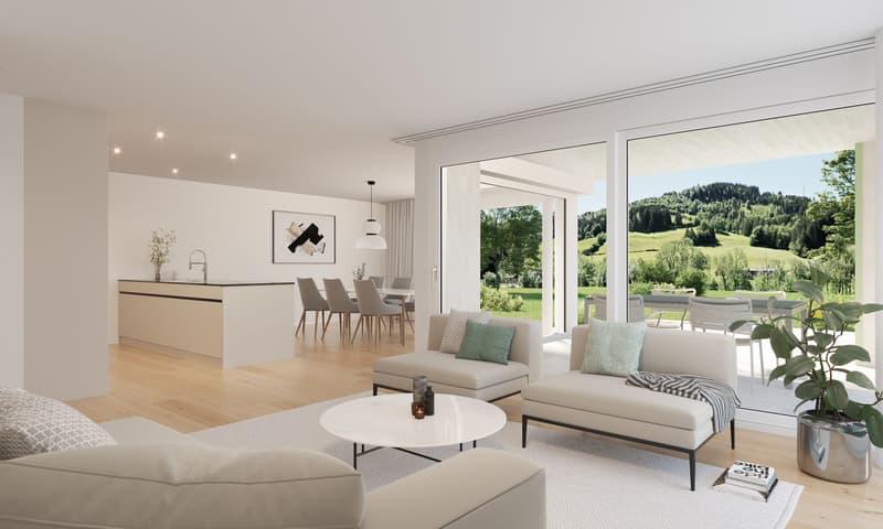 Innenvisualisierung Parterre-Wohnung