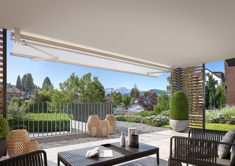 NEU: Niederteufen coole 3.5 Zi.-Gartenwohnung mit fantastischer Sicht auf Alpstein (1)