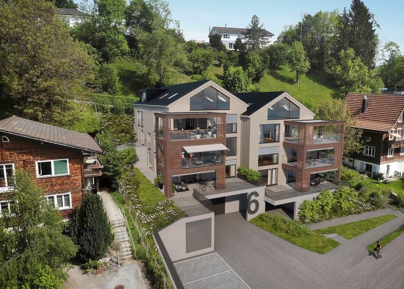 NEU: Niederteufen coole 3.5 Zi.-Gartenwohnung mit fantastischer Sicht auf Alpstein (2)