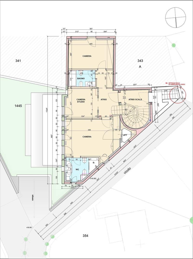 Elegante casa con 2 appartamenti separati, nel nucleo di Breganzona! (13)