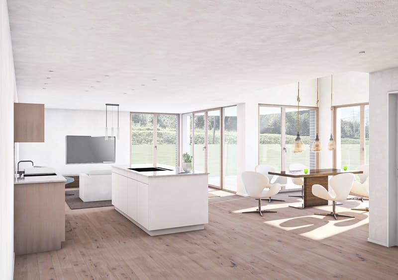 Neubau Doppel-Einfamilienhäuser mit Sicht auf die Glarner Alpen (1)