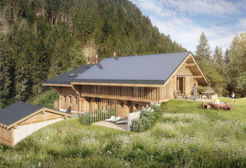 Neubau Bauernhaus in Lauenen bei Gstaad (2)