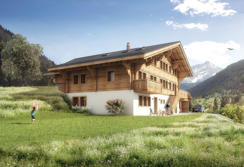 Neubau Bauernhaus in Lauenen bei Gstaad (1)
